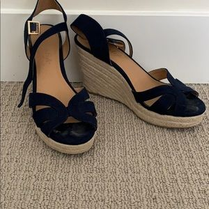 Navy Wedge Heels